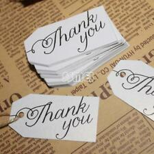 29X57mm 100PCs Paper Label Tag Word Thank You Clothes Jewelry Price Tag no Rope