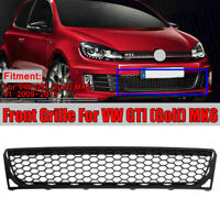 Front Bumper Center Lower Honeycomb Grille Grill For VW GTI Golf MK6 VI 09-13
