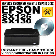 Epson Stylus SX125 SX130 :Service Required Reset Disc: Flashing Light Fix
