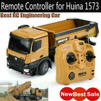 HUINA TOYS 1573 1/14 10CH Alloy RC Dump Trucks Car Toy Remote Control Controller
