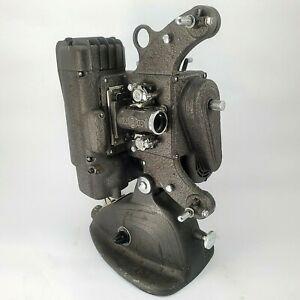 Vintage 8mm Film Projector AMPRO 8A w/Case 1947 Art Deco/ Buck Rogers Styling