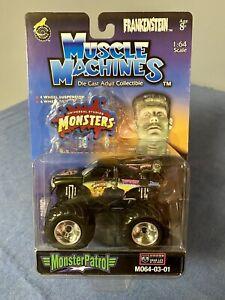 1/64 Muscle Machines Frankenstein Monster Patrol Monster Truck 2003 Dodge Black