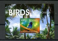 Micronesia 2015 MNH Birds of Micronesia 1v S/S Blue-Faced Parrotfinch Finches