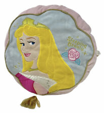 Disney Store Sleeping Beauty Princess Aurora Round Cushion Pillow Gold Tassel