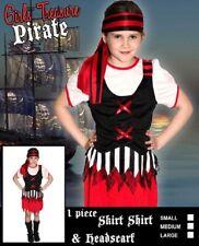 Girls TREASURE PIRATE COSTUME Halloween Birthday Party Child 3 szs 4/6 6/8 8/10