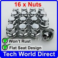 ALLOY WHEEL NUTS - TOYOTA YARIS X16 CHROME LUG BOLT STUD SCREW QUALITY [A40]