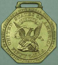1915 Panama Pacific Octagonal $50 Gold Facsimile Medal So-Called Dollar