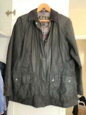 Barbour Beadnell  Waxed Jacket for Women, Size 14 Black