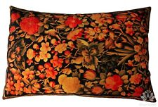 Floral Bird Cushion Cover Luxury Colorful Velvet Pillow Case Sofa Lounge Chair