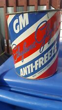 Vintage General Motors 1gallon Anti-Freeze can motor oil can gas pump