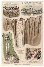 Snoqualmie Falls Washington Waterfall Power Station Lodge etc Technical Postcard