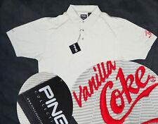 Vanilla COKE coca cola PING golf shirt LARGE beige white patch employee NEW