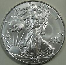 2018 Silver American Eagle, Silver Dollar, BU, UNC, 1 oz, .999 Silver, #15032