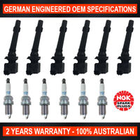 6x NGK Iridium Spark Plugs & Ignition Coils for Ford Falcon G6E FG Territory SZ