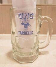 Rare Vintage UNC University of North Carolina Tar Heels Large Glass Mug Tarheels