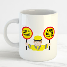 Personalised Thank You Lollipop Lady Mug Cup - School Leaving Present Gift Idea