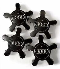 4X Black Wheel Center Cap Hub Fits AUDI A3 A4 A5 A6 A7 A8 Q5 S4 TT 4F0601165N