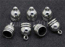 10/40/200pcs Charms Bead End Cap Stopper Fit 7.5mm Cord Leather Crafts Necklace