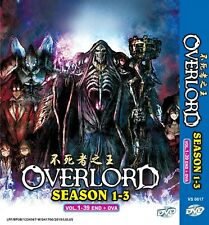 DVD Overlord Complete Season 1 - 3 Anime English Dubbed 39 Episodes + OVA