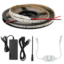 5M 300 LED Light Strip 5050 Pure White Non-waterproof with Dimmer & 12V Power