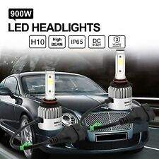 2x LED Headlight H10 9005 Conversion Kit High Beam Replace Halogen HID Bulbs