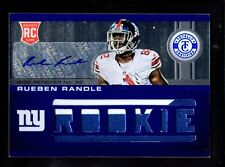 2012 TOTALLY RUEBEN RANDLE GIANTS ROOKIE AUTO JERSEY CARD SERIAL #ed 14/49