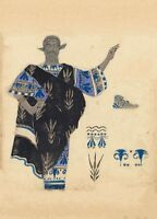 Hélène de Sparte' Menelaus Costume design LEON BAKST Vintage Ballet Posters