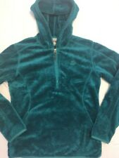 Vtg  NIKE ACG Soft Emerald Green Monkey Fleece Pullover Jacket 1/2 ZIP Sz SMALL