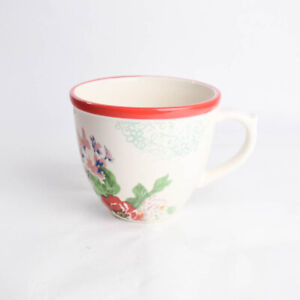 The Pioneer Woman Mug Country Garden 17 Ounce Red Rim Stoneware Floral Coffee