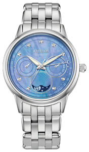 Citizen CALENDRIER Eco Drive Stainless Steel Blue Dial Women's Watch FD0000-52N