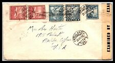 GP GOLDPATH: CHILE COVER 1942 AIR MAIL _CV523_P22