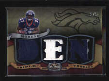 KNOWSHON MORENO 2009 TRIPLE THREADS GOLD 3-PC ROOKIE JERSEY RC #5/5 AB6237