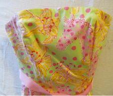Lilly Pulitzer strapless sun dress 4 Carmen FIllies for Lillies Kentucky Derby