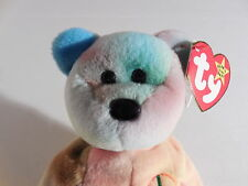TY Beanie Babies Peace Bear 4053 PVC Pellets 4th Gen Hang Tag - 5th Gen Tush Tag