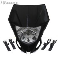 Black Motorcycle Dirtbike Headlight Head Lamp Fairing For Yamaha WR250F WR450F