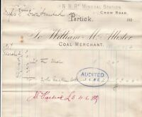 William McAllister Crow Road Partick Coal Merchant 1907 Goods Invoice Rf 41548