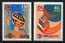 Macau Macao 1988 Weltposttag Postdienste World Post Day 606-07 Postfrisch MNH