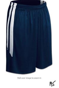 CHAMPRO Women's Dri Gear Muscle Basketball Shorts Navy, White Small