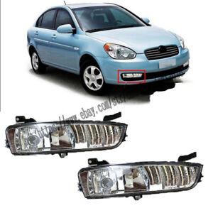 2PCS Car Front Bumper L&R Fog Light For Hyundai Accent 2006-2010