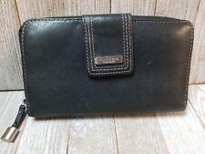Sonoma Womens Wallet Genuine Leather Black - BIN97