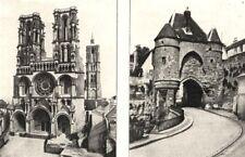 AISNE. Cathédrale de Loan; Porte D'ardon, a Laon 1900 old antique print