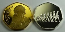 Pair of Collectable CHARLES DARWIN Silver/Gold Commemoratives Albums/Collectors.