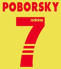 Benfica Poborsky Nameset Shirt Soccer Number Letter Heat Print Football 1997 A