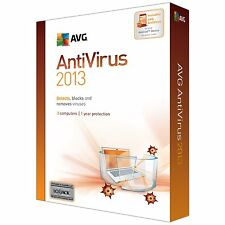AVG ANTI-VIRUS 3 USERS 1 YEAR 2017 UPGRADE 24 HOUR CODE or 2013 CD USA