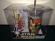 "Princess Slave Leia 3.75"" + Collectible Cup 2-Pack Star Wars Saga ROTJ MISP!!"