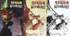 MEDIEVAL SPAWN WITCHBLADE #1 A HABERLIN, #1 B MCFARLANE, #1 C B/W SET 3 COMICS