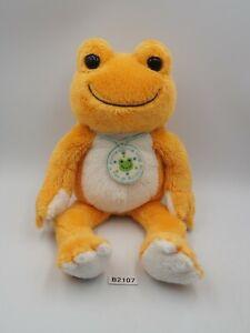 "Pickles The Frog B2107 Orange Nakajima Beanie 10"" Plush Stuffed Toy Doll Japan"