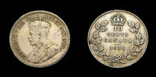 1936 Canada Silver Ten 10 Cents BAR King George V F-15