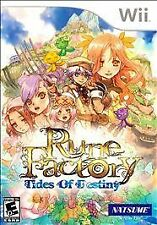 RUNE FACTORY TIDES OF DESTINY Nintendo Wii Game