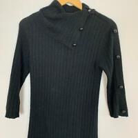 To The Max Women's Black Cowl Neck Angora Blend Dress Sz M A8-19 ~ Free AU Post!